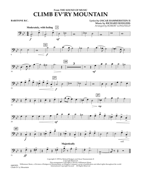 Climb Ev'ry Mountain (from The Sound of Music) - Baritone B.C.