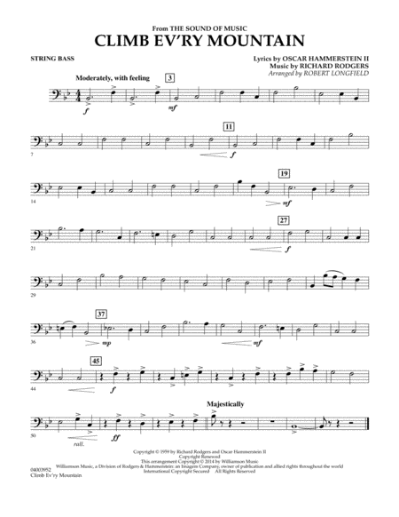 Climb Ev'ry Mountain (from The Sound of Music) - Bass