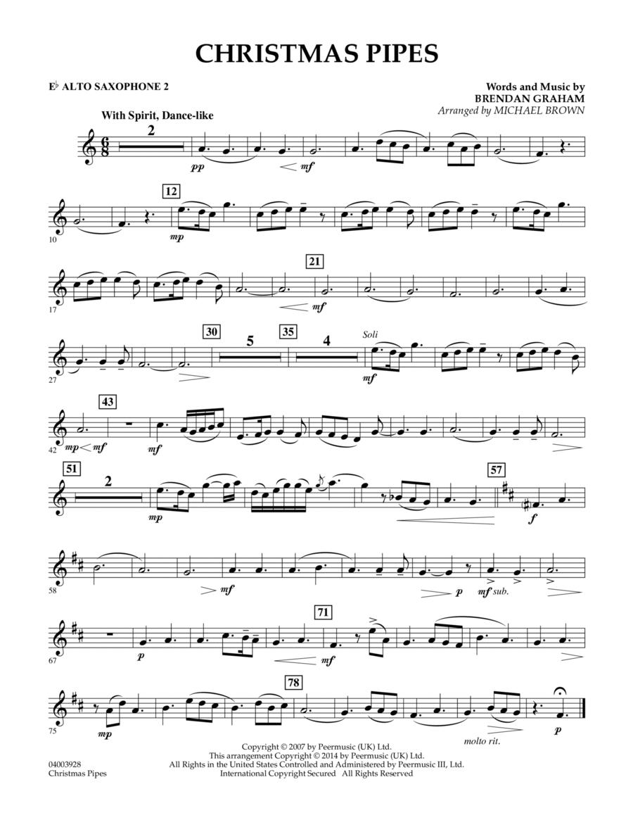 Christmas Pipes - Eb Alto Saxophone 2