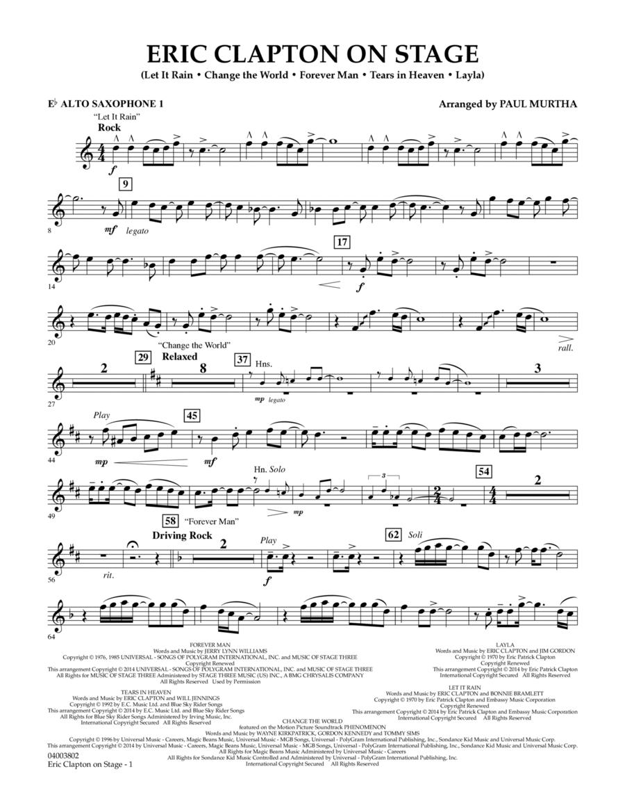 Eric Clapton on Stage - Eb Alto Saxophone 1