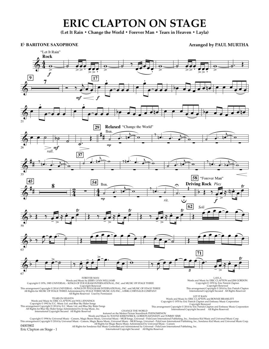 Eric Clapton on Stage - Eb Baritone Saxophone