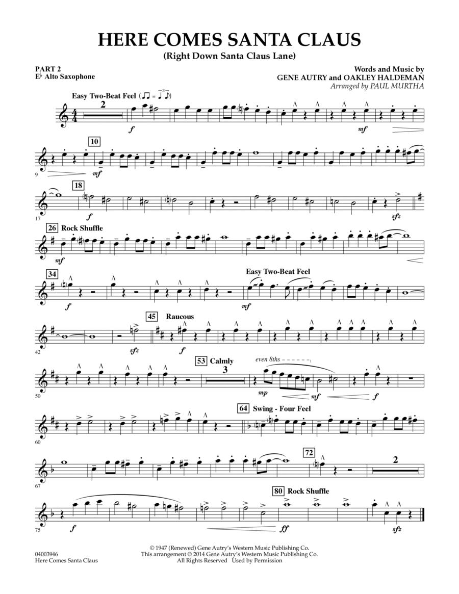 Here Comes Santa Claus (Right Down Santa Claus Lane) - Pt.2 - Eb Alto Saxophone