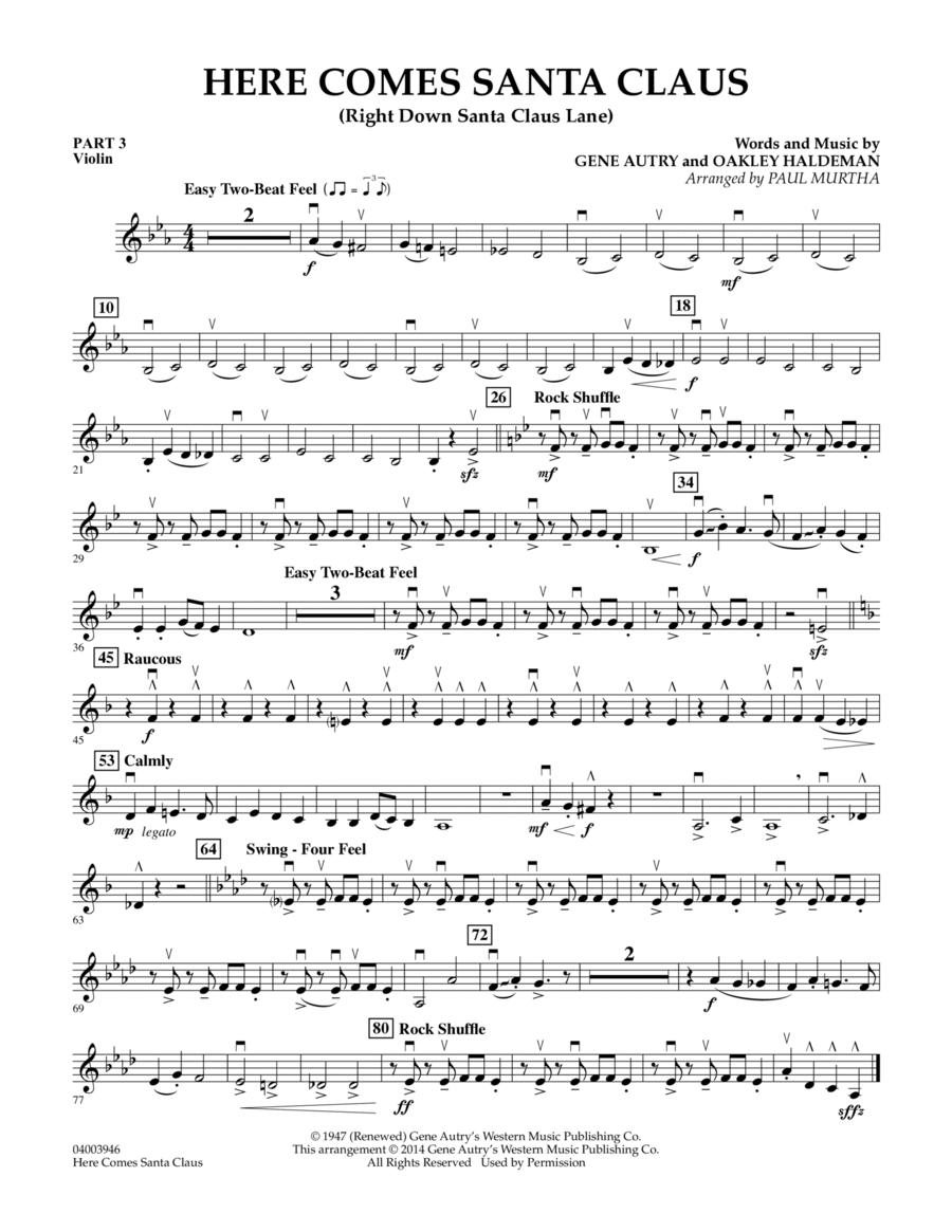 Here Comes Santa Claus (Right Down Santa Claus Lane) - Pt.3 - Violin
