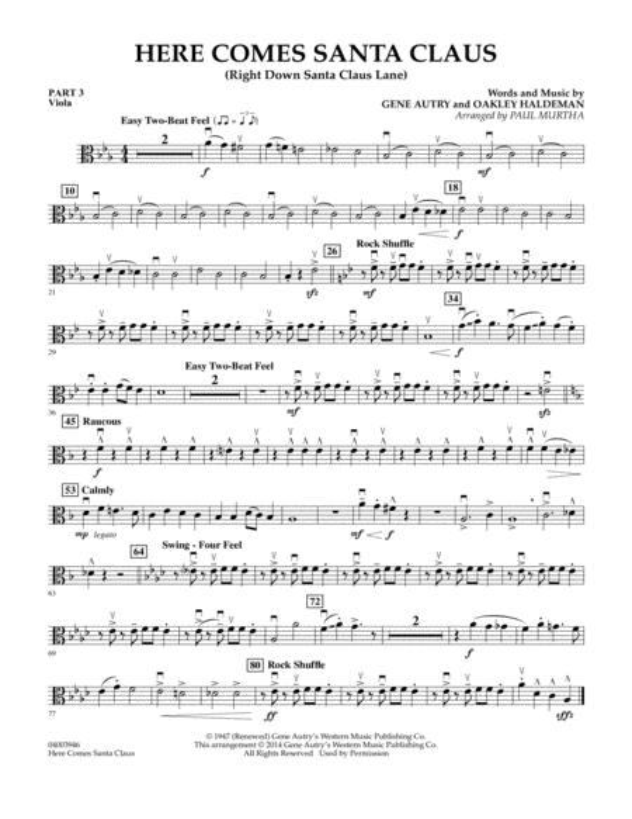 Here Comes Santa Claus (Right Down Santa Claus Lane) - Pt.3 - Viola