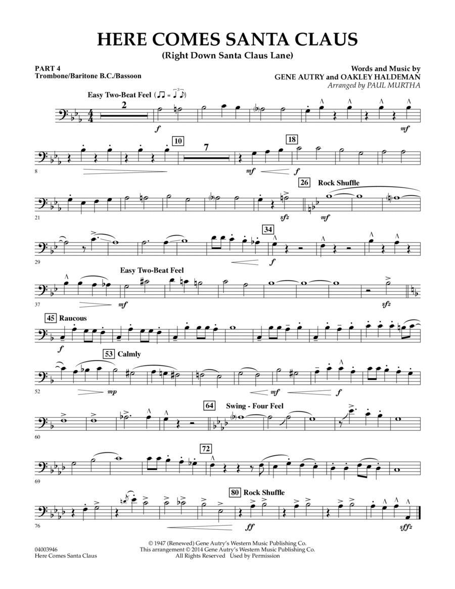 Here Comes Santa Claus (Right Down Santa Claus Lane) - Pt.4 - Trombone/Bar. B.C./Bsn.