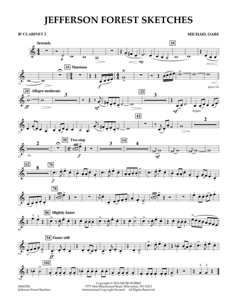 Jefferson Forest Sketches - Bb Clarinet 2