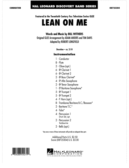 Lean On Me - Full Score
