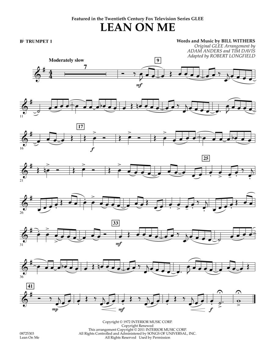 Lean On Me - Bb Trumpet 1