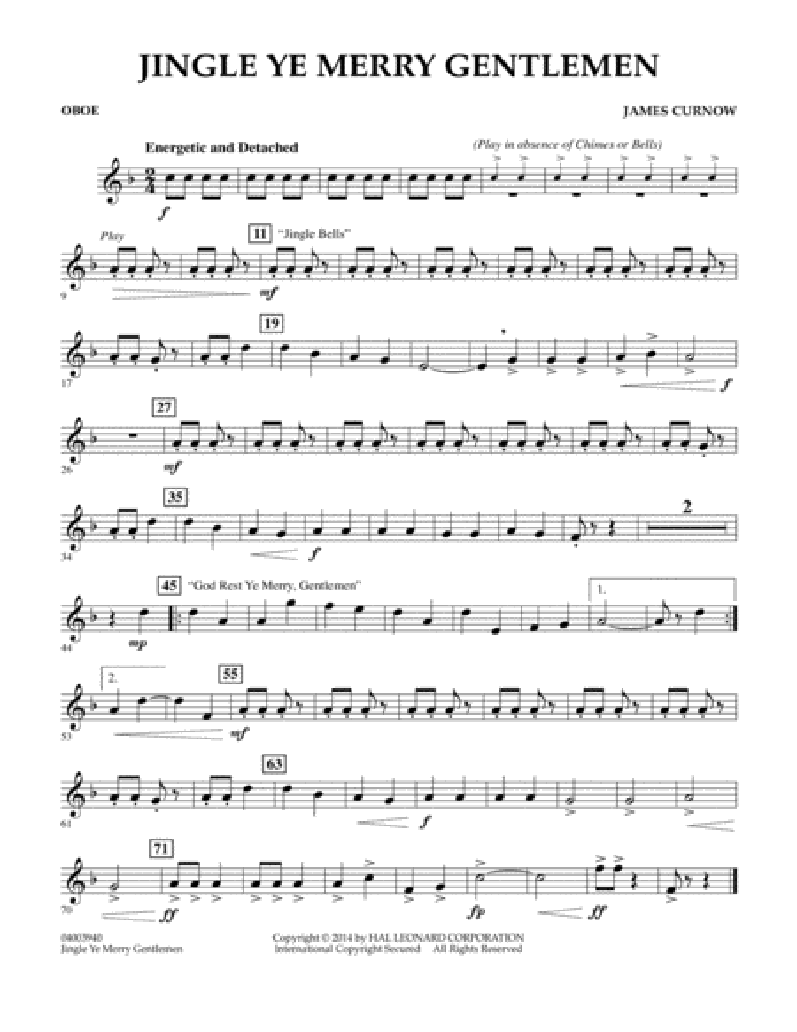 Jingle Ye Merry Gentlemen - Oboe