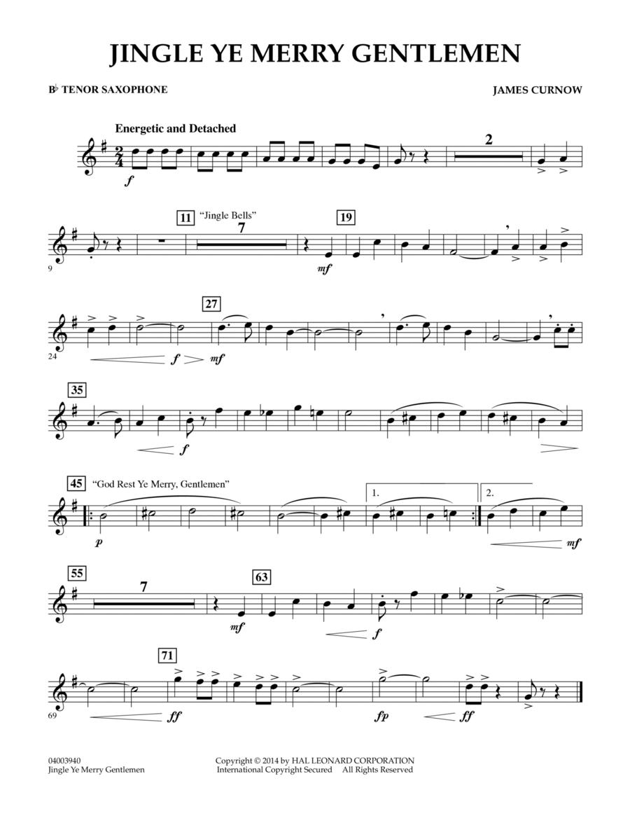 Jingle Ye Merry Gentlemen - Bb Tenor Saxophone