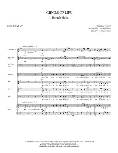 Circle of Life - Violin 1