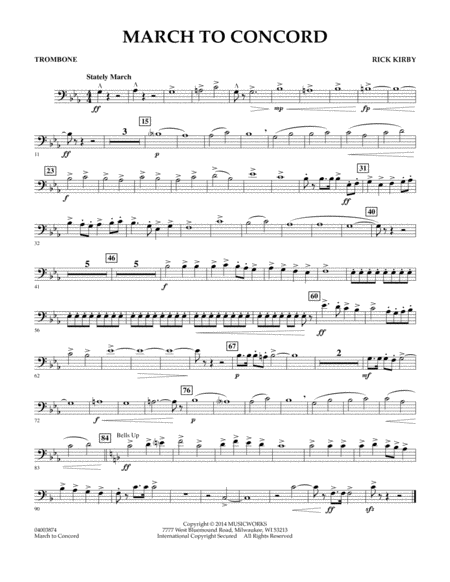 March to Concord - Trombone