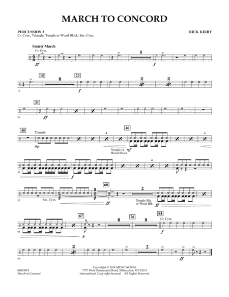 March to Concord - Percussion 2