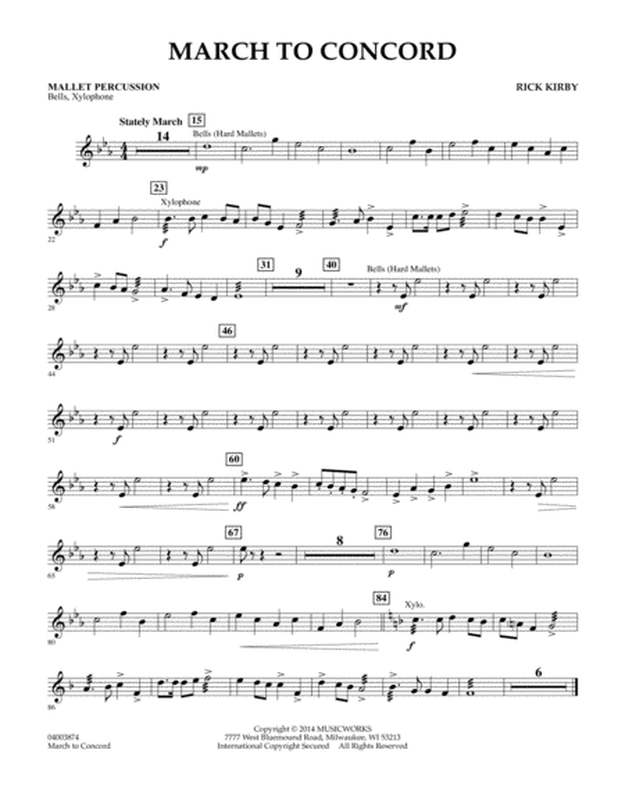 March to Concord - Mallet Percussion