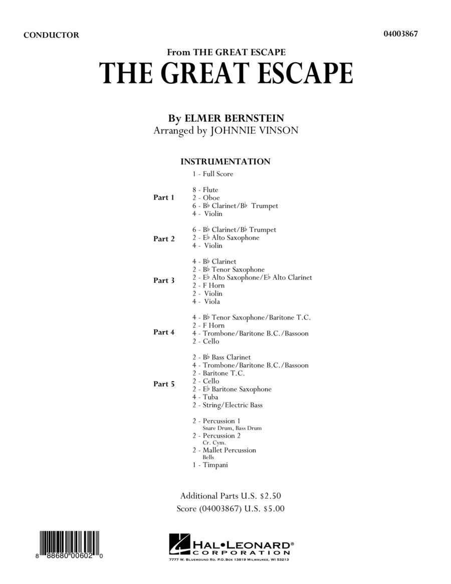 The Great Escape (March) - Conductor Score (Full Score)