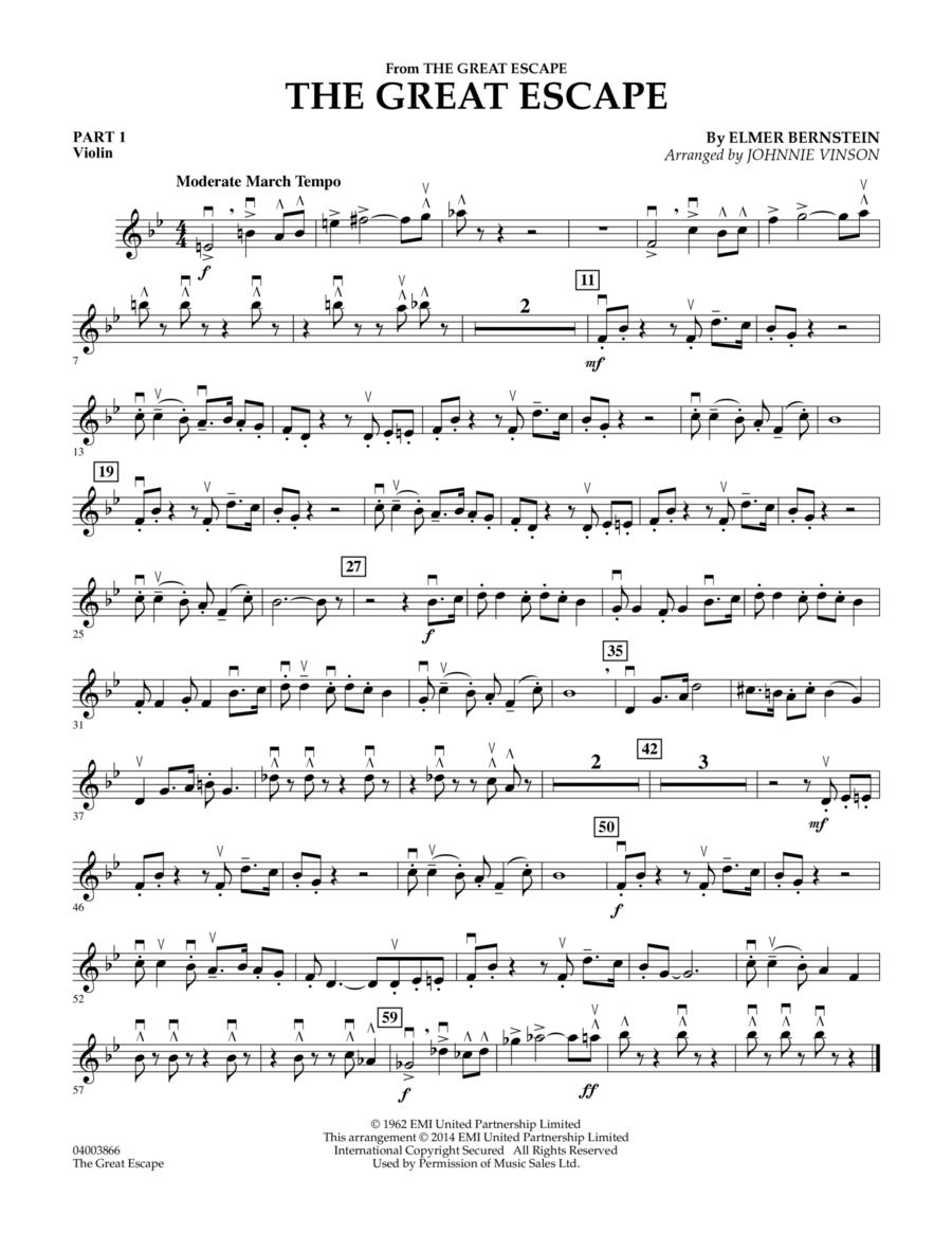 The Great Escape (March) - Pt.1 - Violin