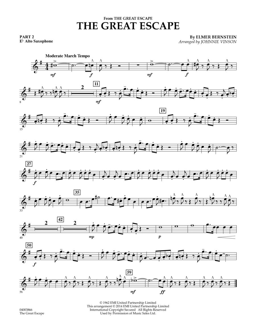 The Great Escape (March) - Pt.2 - Eb Alto Saxophone