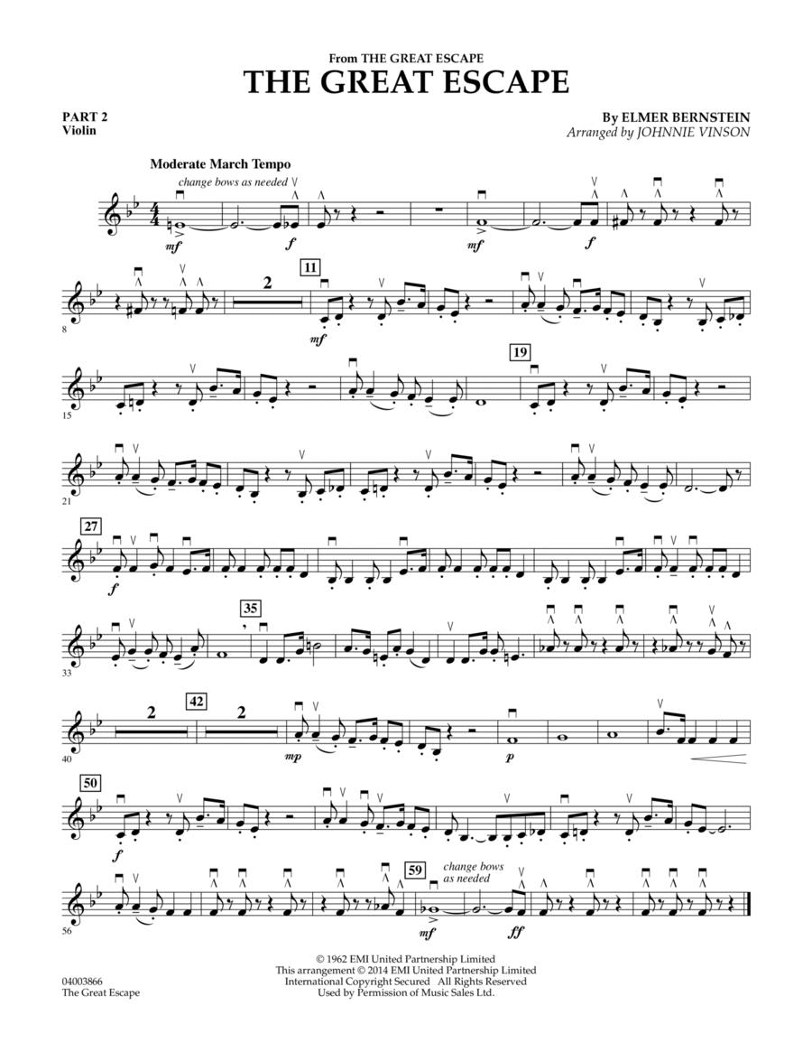 The Great Escape (March) - Pt.2 - Violin