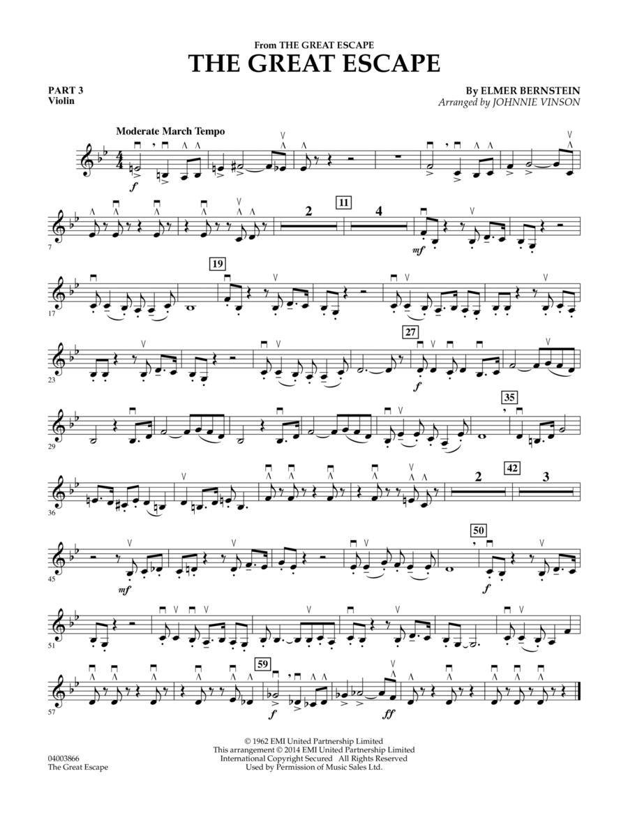 The Great Escape (March) - Pt.3 - Violin