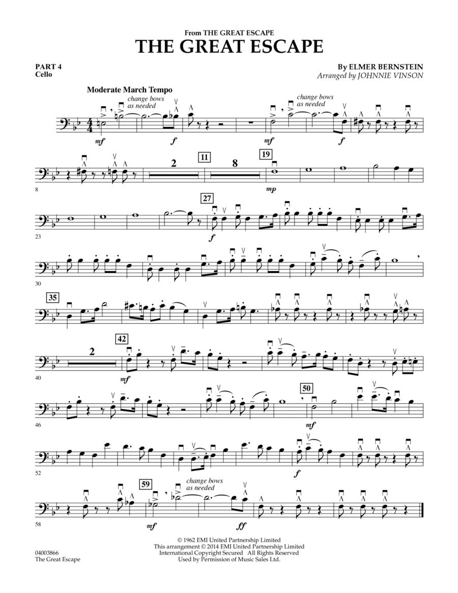 The Great Escape (March) - Pt.4 - Cello