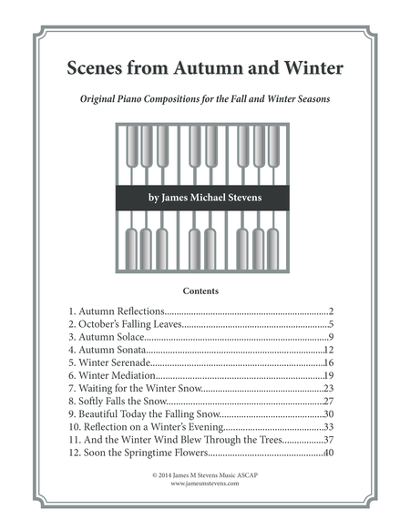 Scenes from Autumn and Winter (Piano Book)
