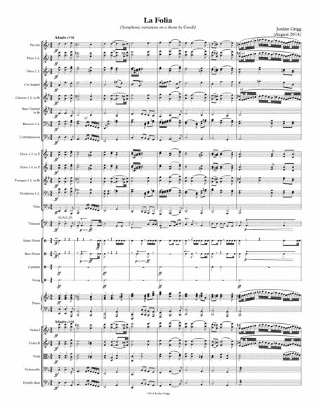 La Folia (Symphonic variations on a theme by Corelli) - Score and parts.Part1