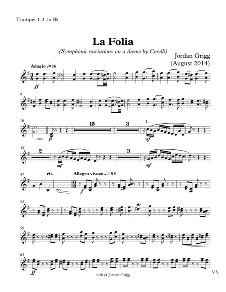 La Folia (Symphonic variations on a theme by Corelli) - Score and parts.Part2