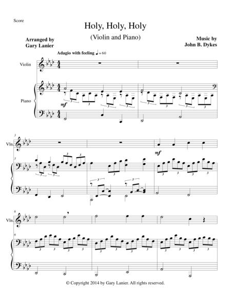 HOLY, HOLY, HOLY (Violin Piano and Violin Part)