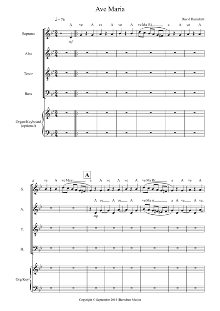 Ave Maria (SATB) for Choir