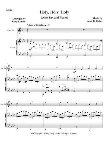 HOLY, HOLY, HOLY (Alto Sax Piano and Sax Part)
