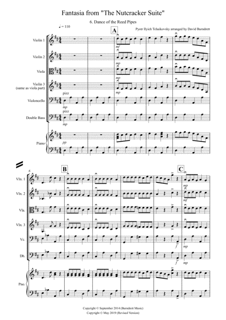 Dance of the Reed Pipes (Fantasia from Nutcracker) for String Orchestra