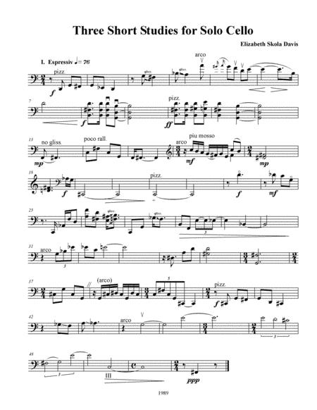 Three Short Studies for Solo Cello