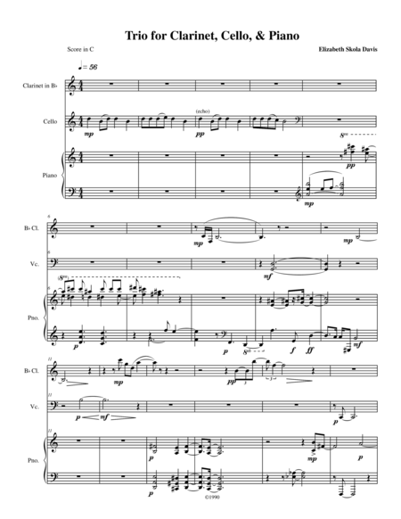 Trio for Clarinet, Cello, and Piano