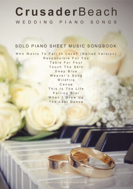 Wedding Piano Songs - Songbook