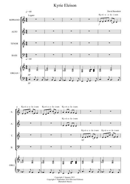 Kyrie Eleison for Choir (SATB) and Keyboard