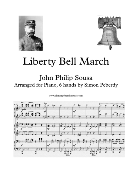 Liberty Bell March arranged for piano 6 hands