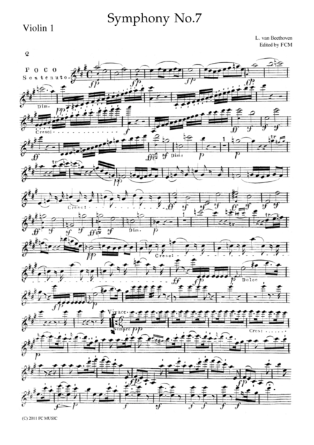 Beethoven Symphony No.7 all mvts. for String Quintet, CB091
