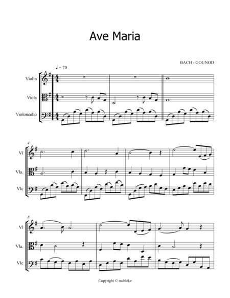AVE MARIA - BACH/GOUNOD - TRIO