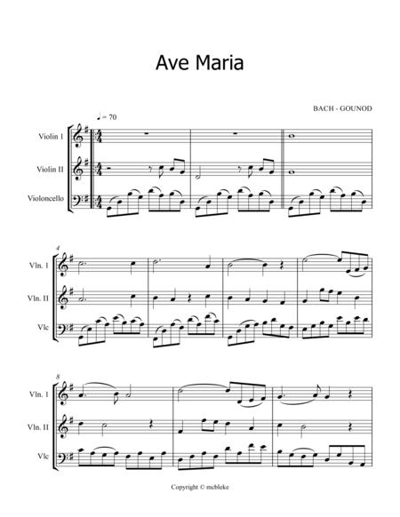 AVE MARIA - BACH/GOUNOD - 2vl, vc