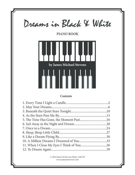 Dreams in Black & White (Piano Book)
