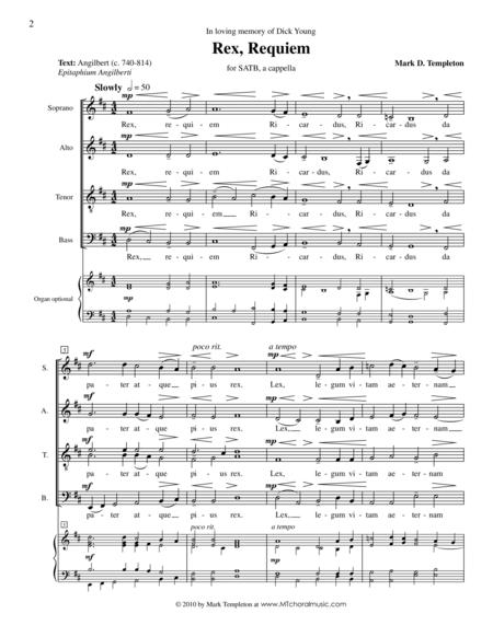 Rex, Requiem (from Missa Brevis)
