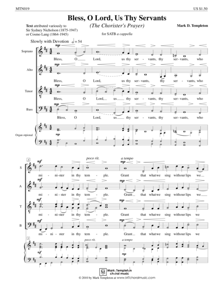 The Chorister's Prayer (from Missa Brevis)