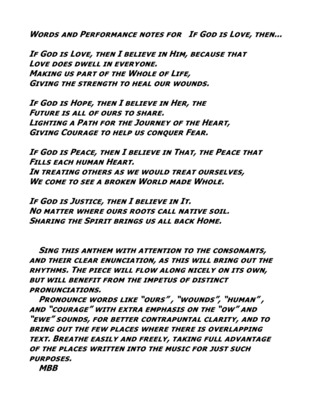 If God Is... SATB Non-Denominational Choral Anthem