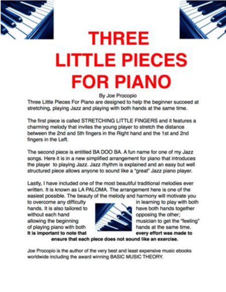 THREE LITTLE PIECES FOR PIANO