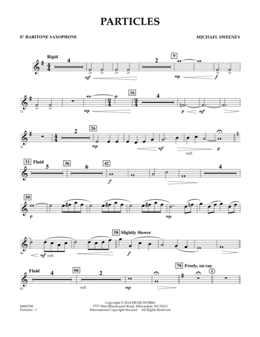 Particles - Eb Baritone Saxophone