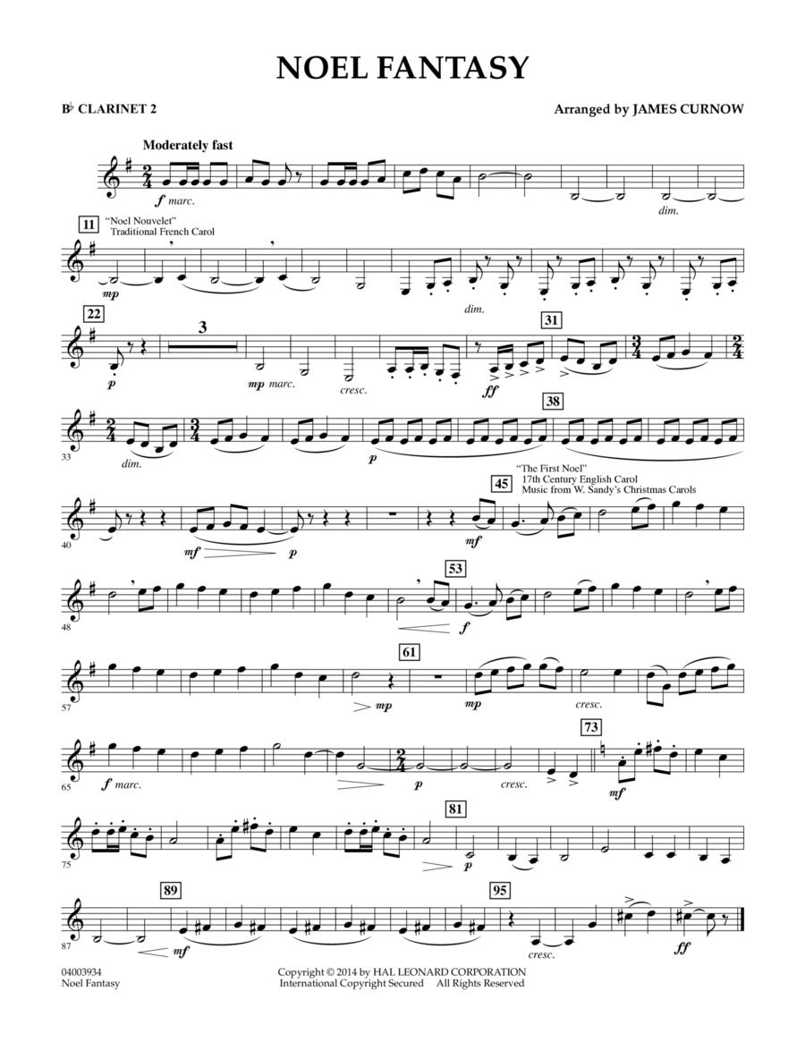 Noel Fantasy - Bb Clarinet 2