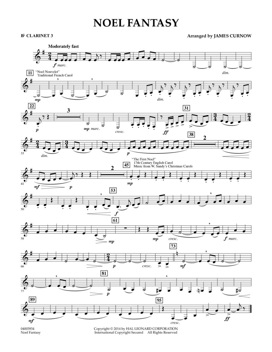 Noel Fantasy - Bb Clarinet 3