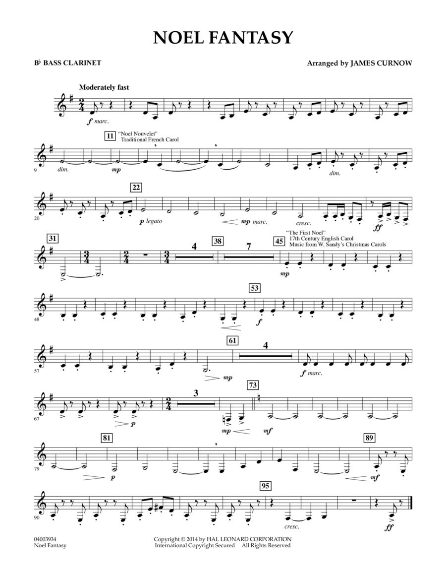 Noel Fantasy - Bb Bass Clarinet