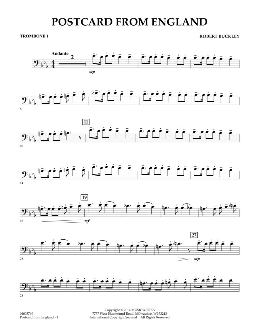 Postcard from England - Trombone 1
