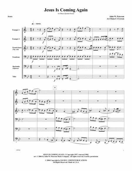 download jesus is coming again sheet music by john w